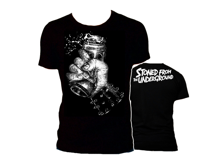 "Stoned from the Underground T-Shirt ""ElvisDead Design"" Man 