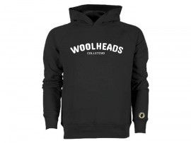 "Woolheads Fair Trade Hoodie ""Black"" Unisex"